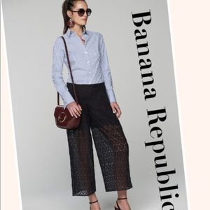 Banana Republic blue and white stripped top